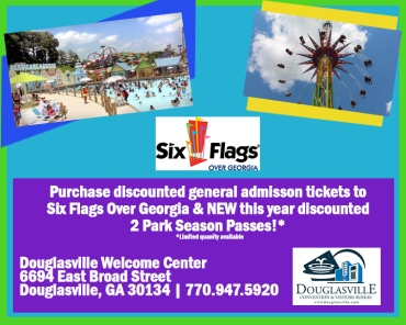Six Flags ticket flyer