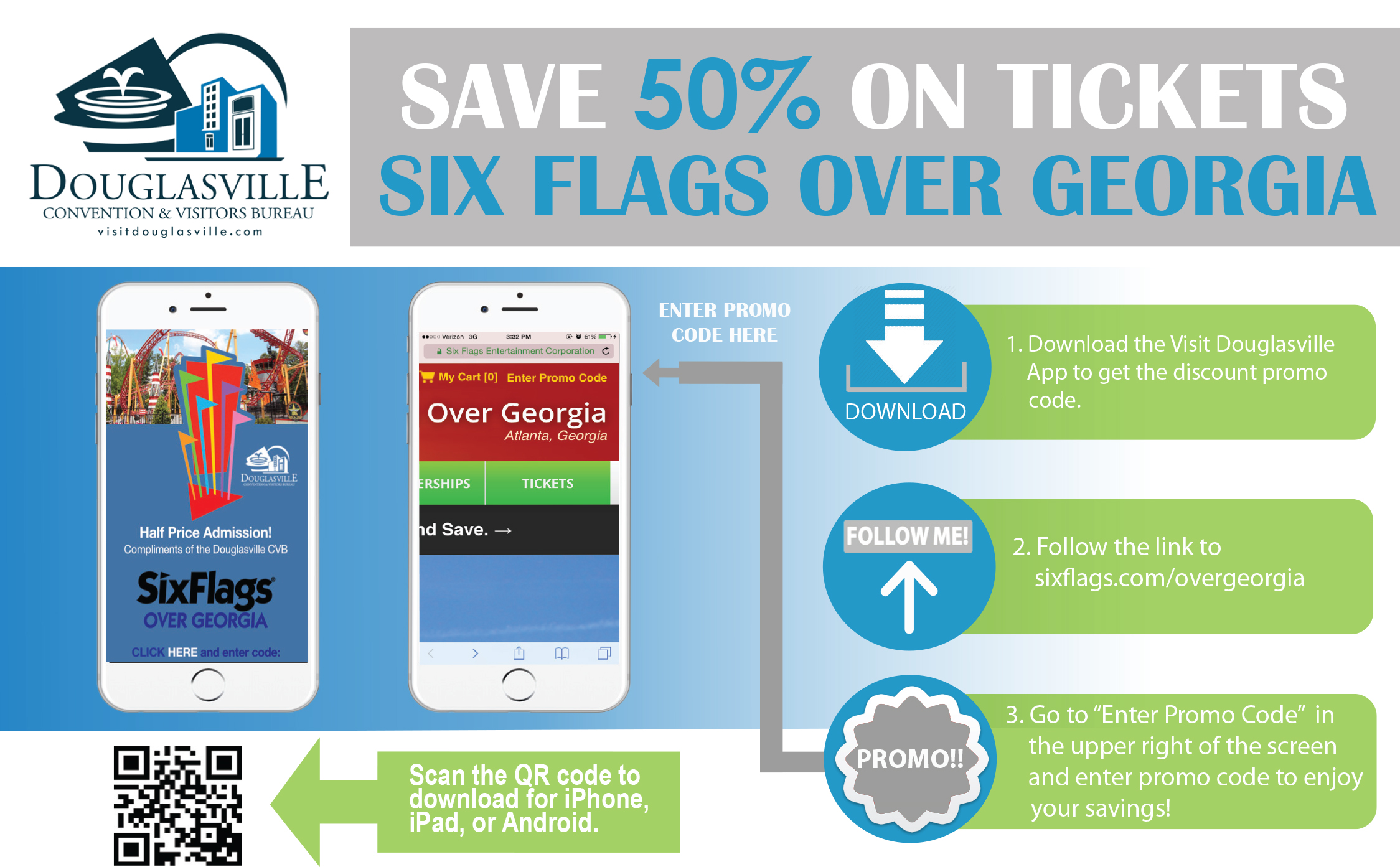 Use Six Flags coupon codes to save on admissions. Look for the Promo Code entry box in the Order Review section of your shopping cart where you can type in your code. Click Submit and watch the discount show up.