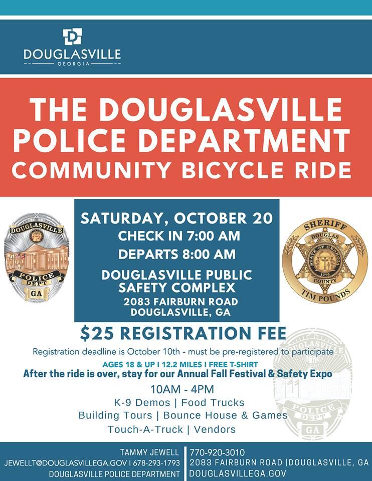 PD Bike ride and fall festival