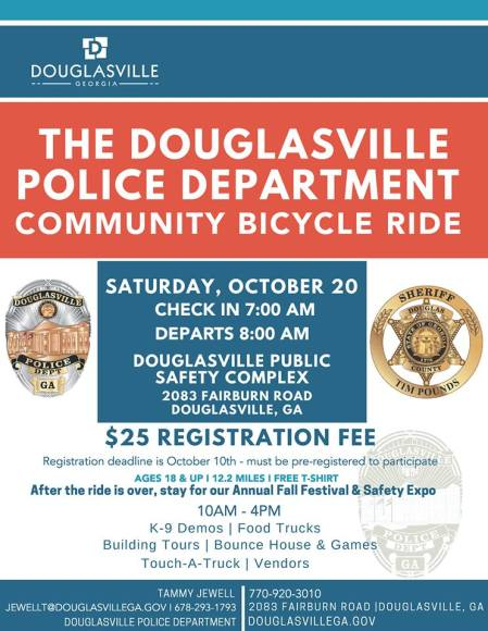 PD Bike ride and fall festival