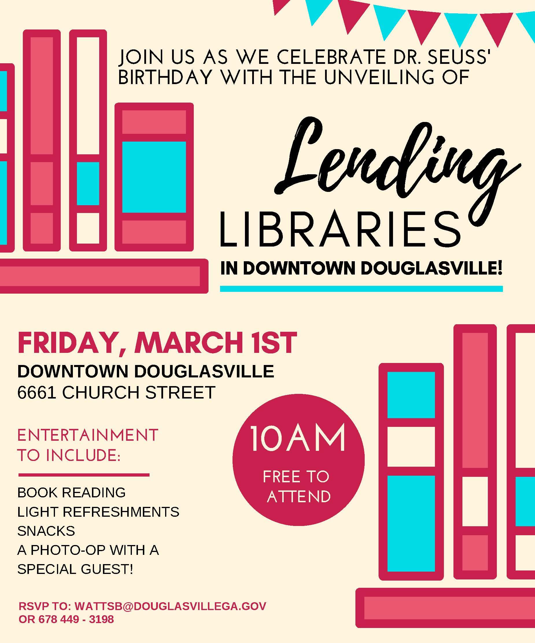 Lending Library flyer